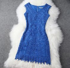 Embroidered V-Neck Vest Dress on Luulla