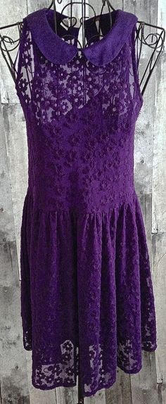 Free People Embroidered Dress Slip 2 Piece Purple Above Knee Size XS #FreePeople