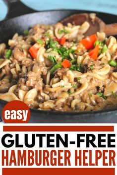 this easy healthy homemade hamburger helper is so simple to make. This one pot hamburger helper recipe is gluten free, dairy free and Keto. Perfect for a healthy family dinner. Healthy Hamburger, Homemade Hamburger Helper, Low Carb Noodles, Gluten Free Noodles, Low Carb Recipes, Real Food Recipes, Homemade Hamburgers, Healthy Family Dinners, Ground Beef Recipes