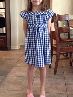 Beautiful Oliver + S Garden Party Dress sewn in gingham. the bias details are perfect!