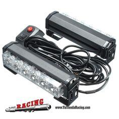 34,85€ - ENVÍO SIEMPRE GRATUITO - Juego de Luces Focos Estroboscópicos Adicionales con Ventosas 6 LEDs Para Coche - TUTIENDARACING