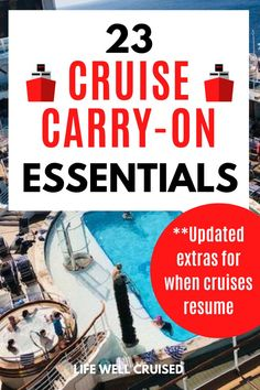 One of most forgotten things to pack for a cruise is a cruise carry on bag. It's an absolute MUST to have a carry on bag for the first day of your cruise vacation. #cruise #cruises #cruisepacking #carryonbag Cruise Excursions, Cruise Destinations, Cruise Port, Cruise Travel, Cruise Vacation, Alaska Cruise Tips, Packing List For Cruise, Packing Lists, Cruise Ship Reviews