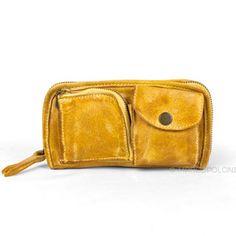 TASCHINA - Buffalo Leather Zip-Around Wallet