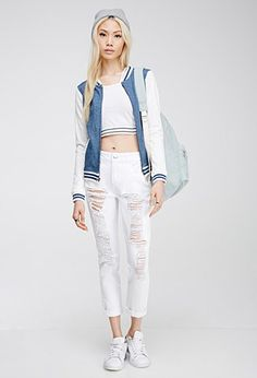 Distressed Relaxed-Fit Jeans | Forever 21 - 2000115636