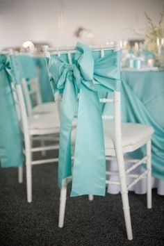 Blue Maryland Wedding Chair Ties Meaghan Elliot Photography 275x413 Chesapeake Bay Wedding Reception: Kelly + Robert