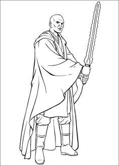 Star Wars Målarbilder för barn. Teckningar online till skriv ut. Nº 33