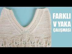 Farklı V Yaka Anlatımı Kazaklarınızda Bluzlarınızda uygulaya bilirsiniz - YouTube Crochet Motif, Crochet Top, Moda Emo, Baby Booties, Crochet Bikini, Knitting Patterns, Diy And Crafts, Stitch, Sweaters