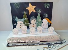 CTMH Snow Friends stamp.  Isn't That Sweet?!: Snowman popup card