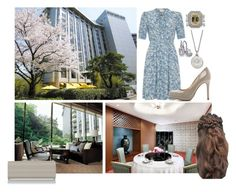 """Без названия #1078"" by duchessq ❤ liked on Polyvore featuring L.K.Bennett, Tiffany & Co. and Tacori"