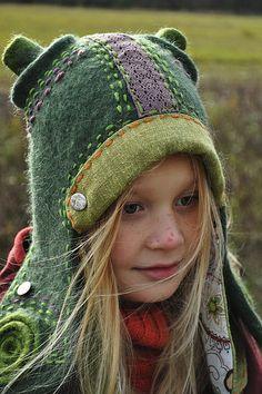 "Headgear handmade.  Fair Masters - handmade hat. ""Way of the Warrior"" .. Handmade."