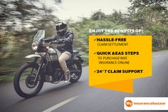 Get your beloved #Twowheeler insured with long-term #policy today and enjoy its benefits