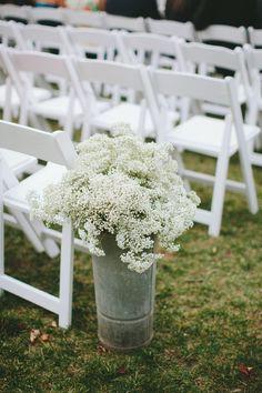 #babys-breath  Photography: Katch Silva - katchsilva.com/  Read More: http://www.stylemepretty.com/mid-atlantic-weddings/2014/04/14/lakeside-poconos-wedding-with-a-camp-vibe/
