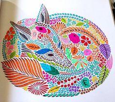 Rainbow Rabbit From The Millie Marotta Animal Kingdom Colouring Book
