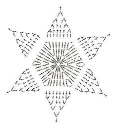 Crochet Snowflake + Free Pattern Step By Step + Diagram Crochet Tree, Crochet Stars, Thread Crochet, Crochet Flowers, Crochet Diagram, Crochet Motif, Crochet Designs, Crochet Patterns, Crochet Snowflake Pattern