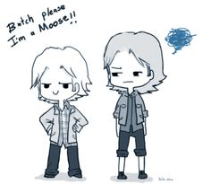 Day 6: Wearing each others' clothes (Sabriel) by ~Nile-kun on deviantART