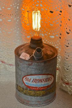 Refurbished Antique Gas Can light