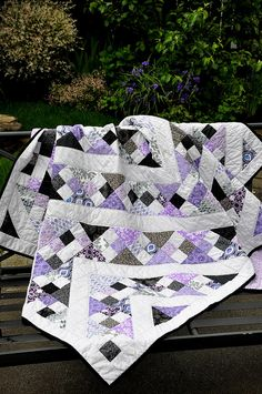 Purple and Gray Graduation Quilt by Pleasant Home, via Flickr
