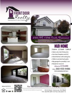 Real Estate For Sale: $155,000-3 Bedroom, 2.5 Bath, 1712 SF Excellent Value! Two Story The Woodlands HUD Home Near WSU and Legacy Hospital in Vancouver, WA! Thanks for sharing Julie Baldino, Front Door Realty, Vancouver, WA!    #RealEstate #ForSaleRealEstate #RealEstateForSale #VancouverRealEstate #RealEstateVancouver #Vancouver #TheWoodlands #NorthSalmonCreek #TwoStoryTownhouse #Townhouse #HUDHome #WashingtonStateUniversity #WSU #RealEstateByLegacyHospital #LegacyHospital