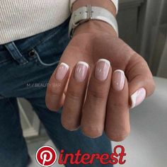 gel nail designs for summer 2019 try on this season 54 83 best coffin nail amp; gel nail designs for summer 2019 try on this season 54 . Classy Nails, Stylish Nails, Cute Nails, Pretty Nails, Pretty Short Nails, Manicure E Pedicure, French Manicure Nails, Manicure Ideas, French Pedicure