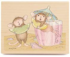 Image detail for -House Mouse Lemon Lips Rubber Stamp