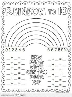 How many ways can you make ten? After this, how many ways can you make ten with _three_ numbers?
