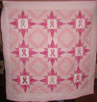 Pink Ribbon Quilt For Breast Cancer