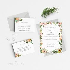 Wedding Invitation Template Download Hand By Pipkinpapercompany