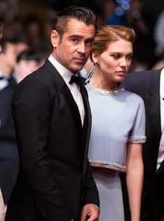 ColinFarrell - LeaSeydoux - At Cannes 2016 FilmFestival premiere of TheLobster, starring Colin Farrell, Lea Seydoux and Rachel Weisz.
