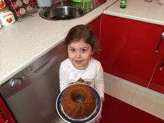 My love with her homemade fvrt cake. Guess  whats inside;)