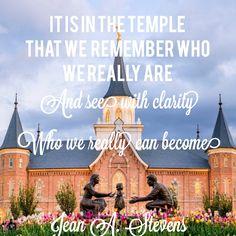 Jean A Stevens LDS Temple quote. Temple Quotes Lds, Church Quotes, Lds Quotes, Religious Quotes, Spiritual Quotes, Chalk Quotes, Mormon Temples, Lds Temples, Scripture Study