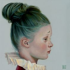 Claudia Giraudo, Saltimbanco Turchino / Souvenir II, oil on canvas, 2016, 20 x 20 cm #contemporary #art #painting