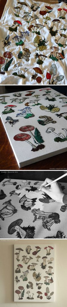 Mushrooms Embroidery | HANDMADE WORKS