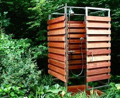Sleek & Sustainable Prefab Outdoor Shower Assembles in 30 Minutes : TreeHugger