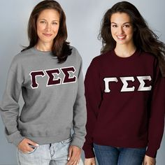 Gamma Sigma Sigma 2 Crewneck Sweatshirts Package #Greek  #Sorority #Clothing #GammaSigmaSigma