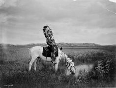 Oasis in the Badlands, Chief Red Hawk, Teton Sioux, by Edward S. Curtis 1905