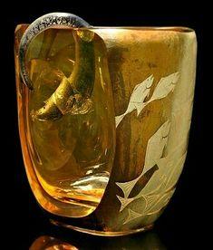 Gernade Sugar Shack Glass American Sculptural Glass Art Pendant