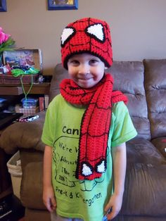 Spiderman Hat/Scarf Set by RogBoutique on Etsy, $30.00