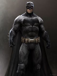 Batman vs. Superman: Dawn of Justice costume concept art by Jerad Marantz *