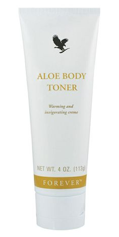Forever Aloe Body Toner - a combination of Aloe and herbs to moisturise, firm and condition the skin. Gives the skin a deep heated stimulating feeling assisting with inch loss, toning and firming. Formulated to be used with the cellophane wrap in the Body Toning Kit.