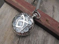 silver the mortal instruments angelic Power Rune Pocket Watch Necklace mens jewelry