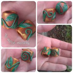 Vine Wrapped Dainty Dread Bead by HipHippieHooray on Etsy, $3.50