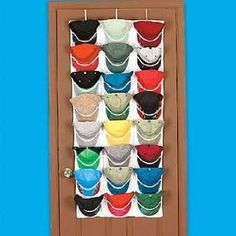 Overdoor Cap Hat Organizer Rack  Need This For My Husband
