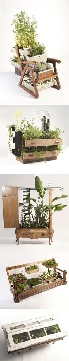 DIY Recycled Furniture As Planters