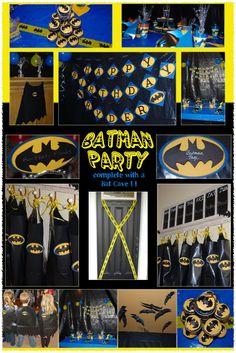 Batman for Connor or Winfield for king. Batman Birthday, Superhero Birthday Party, 4th Birthday Parties, Birthday Fun, Birthday Ideas, Batman Party Decorations, Batman Party Supplies, Superman Party, Nananana Batman