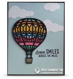 SNEAK PEEK & VIDEO: Lift Me Up & Away Hot Air Balloon Card | Stampin Up Demonstrator - Tami White - Stamp With Tami Crafting and Card-Making Stampin Up blog