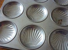 Vintage Cooking Tin Madeleine Pan Mince Pie Pan 12