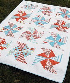 love this pinwheel pattern and colors