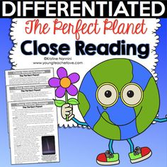 by Kristine Nannini – Grade The Perfect Planet Close Reading Passage, Text-Dependent Questions & More This is a FREE sample of my Close Reading Resources! Close Reading, Guided Reading, Teaching Reading, 5th Grade Classroom, Classroom Ideas, Text Dependent Questions, Reading Resources, Reading Lessons, Reading Skills