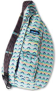 Kavu Women S New Rope Sling Zag Weave Chevron Zig Shoulder Bag Purse Backpack