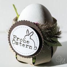 Kleines Osterkörbchen in Naturfarben als Mitbringsel zu Ostern, mit Anleitung. #CarosBastelbude
